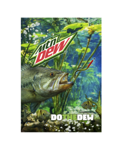Collectors Edition MTN DEW® 3D Outdoor Fish Scene Lenticular