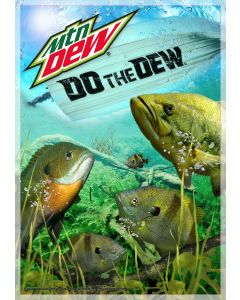 Collectors Edition MTN DEW® 3D Outdoor Fish Scene w/Boat Lenticular