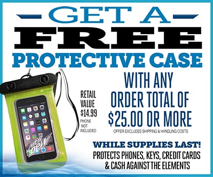 Get a Free Protective Case with any orders total $25.00 or more